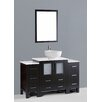 "Bosconi Contemporary 54"" Single Bathroom Vanity Set with Mirror"