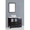 "Bosconi Contemporary 42"" Single Sink Vanity Set"