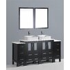 "Bosconi Contemporary 72"" Double Vanity Set"
