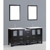 "Bosconi Contemporary 72"" Vanity Set with Double Sink"