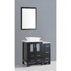 "Bosconi Contemporary 36"" Single Bathroom Vanity Set with Mirror"