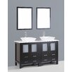 "Bosconi Contemporary 60"" Double Vanity Set"