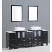"Bosconi Contemporary 84"" Double Vanity Set"