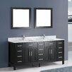 """Bosconi Contemporary 71"""" Double Bathroom Vanity Set with Mirror"""