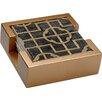 Thirstystone 5 Piece Shell Ebony Collegiate Coasters Gift Set