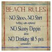 Thirstystone Beach Rules Occasions Coasters Set (Set of 4)