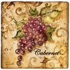 <strong>Thirstystone</strong> Ambiance Wine Grapes Travertine Coaster Set (Set of 4)