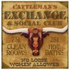 Thirstystone Cattleman's Exchange Occasions Coasters Set (Set of 4)