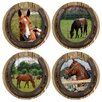 Thirstystone 4 Piece Quarter Horses Coaster Set