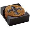 Thirstystone Fleur de Lis 7 Piece Cork Coaster Gift Set