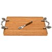 Thirstystone Bamboo Pine Cone Branch Serving Board with Spreader