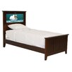 Shaker Twin Panel Bed with Doggie and Dolphins Interchangeable HeadLightz