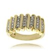 "<strong>Gold Overlay Diamond Accent ""S"" Design Ring</strong> by Gem Jolie"