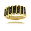 "<strong>Gem Jolie</strong> Gold Overlay Diamond Accent ""S"" Design Ring"