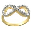 <strong>Gem Jolie</strong> 18kGold or Silver Overlay Diamond Accent Infinity Ring