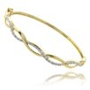 <strong>Gem Jolie</strong> Gold Overlay Diamond Accent Infinity Bangle