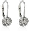 <strong>Gem Jolie</strong> Sterling Silver Cubic Zirconia Circle Leverback Earrings