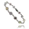 <strong>Gem Jolie</strong> Multi Gemstone and Diamond Accent Flower Bracelet