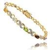 <strong>Gold Ovelay Blue Topaz ,Sapphire, and Diamond Accent XO Design Brac...</strong> by Gem Jolie