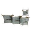 <strong>River Cottage Gardens</strong> Square Garden Bucket (Set of 3)