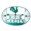 River Cottage Gardens Garden Rooster Wall Plaque