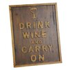 <strong>River Cottage Gardens</strong> Drink Wine Wall Décor