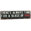 River Cottage Gardens Time For Wine Textual Art Plaque