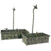 River Cottage Gardens Metal Decorative Planter Boxes (Set of 2)