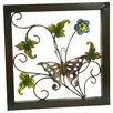 River Cottage Gardens Flower with Butterfly Wall Décor