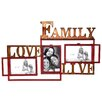 River Cottage Gardens Family Love Life Picture Frame with 3 Openings