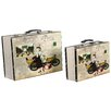 <strong>River Cottage Gardens</strong> 2 Piece Decorative Suitcase Set