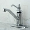 Kingston Brass Templeton Single Handle Bathroom Faucet with Push-Up and Optional Deck Plate
