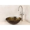 Kingston Brass Palermo Glass Round Vessel Bathroom Sink