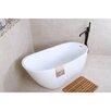 "Kingston Brass Aqua Eden Contemporary Freestanding Acrylic 59"" x 29.13"" Bathtub"