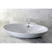 <strong>Kingston Brass</strong> Oliva China Vessel Bathroom Sink with Overflow Hole and Faucet Hole