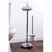 Kingston Brass Vintage Free Standing Pedestal Toilet Paper and Brush Holder