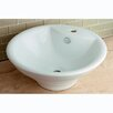 <strong>Kingston Brass</strong> Ripple China Vessel Bathroom Sink with Overflow Hole and Faucet Hole