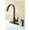 <strong>Kingston Brass</strong> Continental Gourmetier Single Handle Kitchen Faucet