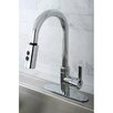 <strong>Kingston Brass</strong> Continental Gourmetier Single Handle Kitchen Faucet with Pull Down Spout