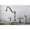 <strong>Kingston Brass</strong> Tudor Double Handle Centerset Kitchen Faucet with Spray