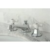 <strong>Kingston Brass</strong> Metropolitan Double Handle Widespread Bathroom Faucet with Brass Pop-up