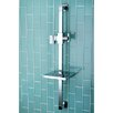 "<strong>Kingston Brass</strong> Claremont 23.6"" Square Shower Slide Bar with Soap Dish"