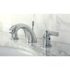 Kingston Brass NuVo Fusion Double Handle Mini Widespread Bathroom Sink Faucet with Brass Pop-up