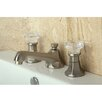 Kingston Brass Celebrity Double Crystal Handle Widespread Bathroom Faucet with Brass Pop-Up Drain