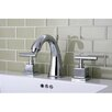 <strong>Kingston Brass</strong> Claremont Double Handle Widespread Bathroom Faucet with Brass Pop-Up Drain