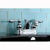 Kingston Brass Knight Double Handle Centerset Bathroom Faucet with ABS Pop-Up Drain