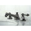<strong>Kingston Brass</strong> Water Onyx Double Handle Widespread Bathroom Faucet with Brass Pop-Up Drain