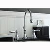 Kingston Brass Governor Double Handle Widespread Bathroom Faucet with Brass Pop-Up Drain  Drain