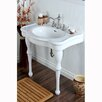 "Kingston Brass Duchess Vitreous 19"" Bathroom Sink with Console"