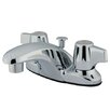 Kingston Brass Magellan Double Handle Centerset Bathroom Faucet with ABS Pop-Up Drain